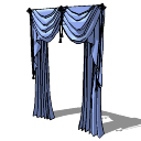 海军浅色窗帘(167)Skp