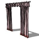浅粉红色窗帘和深粉红色立脚(212)Skp