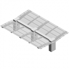 Light storage integrated charging pile canopy revit family
