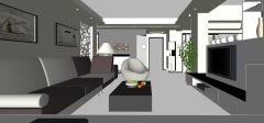 Дизайн гостиной со стулом яйцо скп