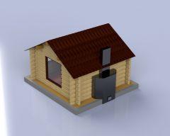 木屋台阶模型