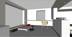 Conception de la salle Lotf avec table à thé SKP