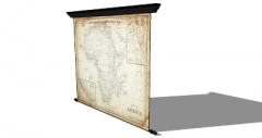 地图窗帘(214)Skp