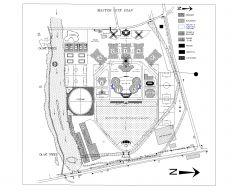 Concepto de plan de diseño de sitio maestro .dwg