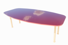 Red Meeting Table revit family