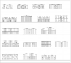 Metal Driveway Gates CAD Collection dwg