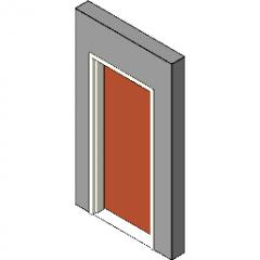Armação de madeira Porta de madeira Revit