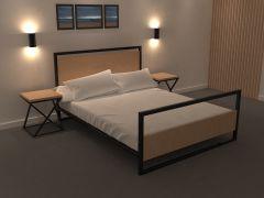 Metal Wood Bedroom  sldasm model