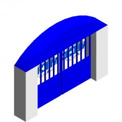 Model area gate revit family