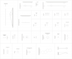 Modern wall lights CAD collection dwg