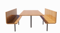 Modified Rectangular Cafeteria Table revit family