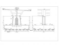 Multi Span Bridges Design Pier # 1 ~ Pier # 10 Details .dwg-20