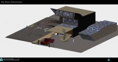 SKPの造園された化合物と家