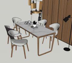 Обеденный стол с 6 стульями скп
