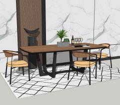 Mesa de jantar com 3 poltronas skp