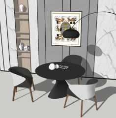 Esskreistisch und 2 Sessel skp