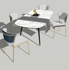带4把椅子的餐桌