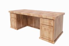 Wooden Office Desk revit family