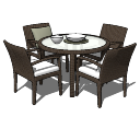 Table and chairs PAiuthuong07 skp