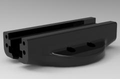 Autodesk Inventor 3D CAD Model of Sliding  Machine rail