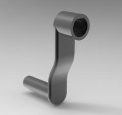 Autodesk Inventor 3D CAD Model of Meat grinder Handle