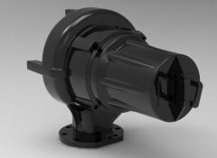 Autodesk Inventor 3D CAD Model of compressor assembly