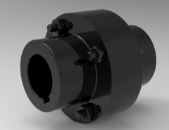 Autodesk Inventor 3D CAD Model of Elastic coupling