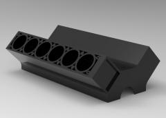 Autodesk Inventor 3D CAD Model of Engine Block V12