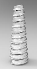 Autodesk Inventor 3D-CAD-Modell der Spule