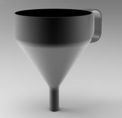 Autodesk Inventor Modelo CAD 3D de embudo
