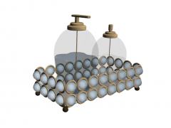 Pearl tray with cosmetic bottle glasses skp