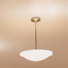 Silver Pendant Light - Glass Hemisphere revit family