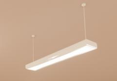 White Plastic Pendant Light - Linear - 2 Lamp revit family