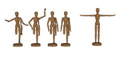 Menschen üben Holzmodell skp