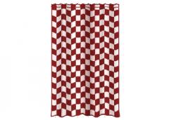 Cortinas vermelho-branco poleiro (68) skp