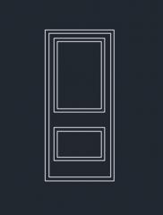 ドアの高さのDWG形式