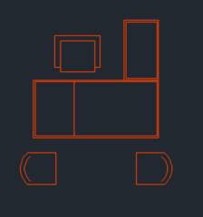 office furniture plan view dwg format