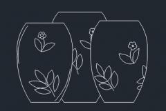 Vases dwg format