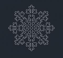 снежинка формат DWG