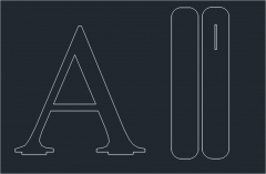 A letter with stand dwg format