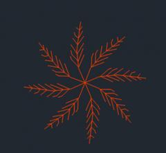 Formato dwg della vista della pianta dell'albero