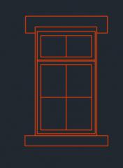 Формат DWG высоты окна