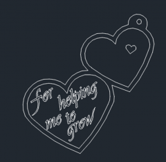2 hearts icon dwg format
