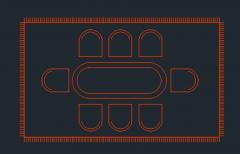 ダイニングテーブルプランビューDWG形式