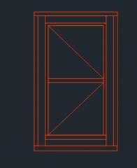 однопанельный формат dwg высоты окна