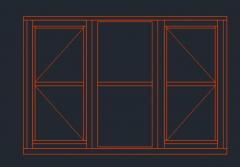 Формат DWG с тройной панелью.