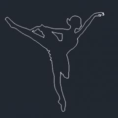 バレエダンサーのdwg形式