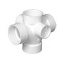 Pipe Fitting Double Sanitary Tee_L_R_Side Inlet_PVC Revit