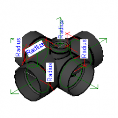 Pipe Fitting Double Sanitary Tee Side Inlet Revit