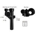 Pipe Fitting Left Hand Starter 4IN Tap Cast Iron Revit